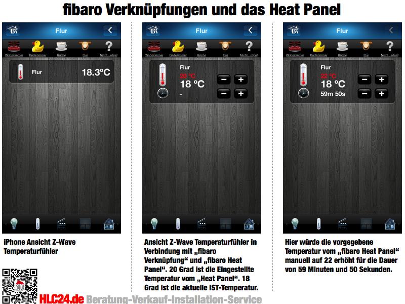 fibaro Heat Panel und Verknüpfungen Smarthome Fußbodenheizung Z-Wave