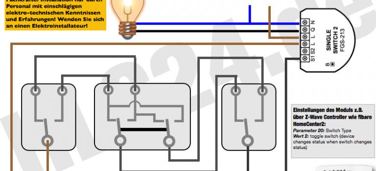 Wie schließt man das fibaro Single Relay2 (FGS-213) richtig an?