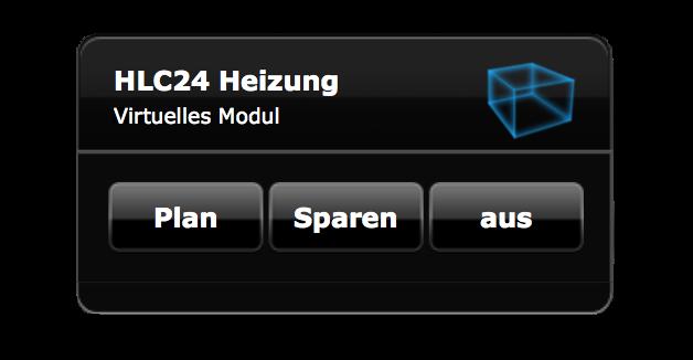 Virtuelles Modul zur Steuerung von fibaro Heizplan HomeCenter lite Homecenter2